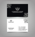 latest white business card vector image vector image