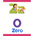 learning alphabet z vector image vector image