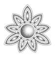 mandala with moon dorwork tattoo symbol vector image vector image