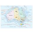 map sea and coastal currents australia vector image vector image