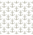 marine anchor seamless pattern nautical sea fabric vector image vector image
