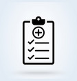 medical report icon in line style checklist vector image vector image