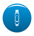 mini usb icon blue vector image vector image