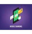 Mobile banking with user vector image