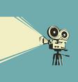 movie camera retro cinema projector vintage vector image