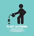 Plant Watering With Watering Can vector image vector image