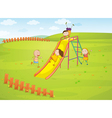 Playground background vector image vector image