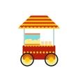 Popcorn cart icon vector image vector image