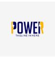 power logo template design vector image
