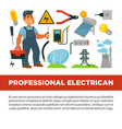 professional electrician services promotional vector image vector image