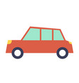 red car template white background minivan vector image vector image