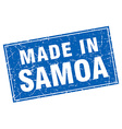 Samoa blue square grunge made in stamp vector image vector image