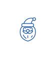 santa claus head line icon concept santa claus vector image
