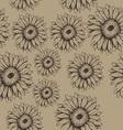 Seamless gerbera flowers pattern vector image vector image
