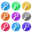 search or find icons set of colored signs vector image vector image