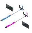 Selfie stick Flat 3d isometric vector image