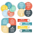 set business circle infographic diagram vector image vector image