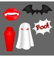 set of cartoon objects for Halloween vector image vector image
