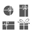 set of gift box icons vector image vector image