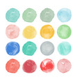 set of watercolor shapes watercolors blobs vector image vector image