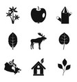 sheet icons set simple style vector image vector image