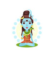 shiva indian god the supreme god in shaivism vector image