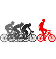 silhouettes of racers on a bicycle fight at the vector image vector image