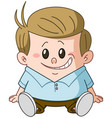 sitting kid vector image vector image