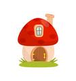 small house made from mushroom fairytale fantasy vector image