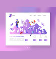 social media marketing isometric landing page vector image vector image