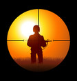 soldier being targeted by a sniper vector image vector image