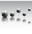 Spheres in motion vector image