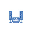 stereo sound hi fi system line icon concept vector image vector image