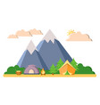 summer camping trekking and climbing vector image