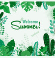 summer greeting card or vector image vector image
