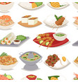 traditional thai food asian plate cuisine thailand vector image vector image
