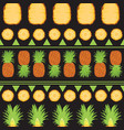tropical summer seamless pattern of pineapples and vector image vector image