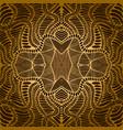 vintage psychedelic fractal mandala pattern vector image vector image