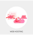 web hosting conceptual design vector image