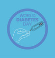 world diabetes day awareness vector image vector image