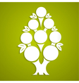 Abstract white tree made of paper vector image
