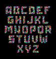 mosaic alphabet vector image