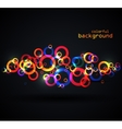 Abstract colored circles vector image vector image