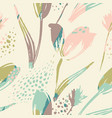abstract floral seamless pattern tulips trendy vector image
