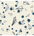 abstract pattern seamless paper airplane vector image vector image