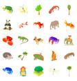 animal husbandry icons set cartoon style vector image
