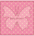 Baby-shower-butterfly-hearts-pink vector image vector image