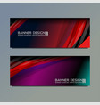 business web banner vector image vector image