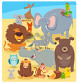 cartoon animal characters group vector image vector image
