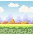 Cartoon fairy tale landscape Stones seamless vector image